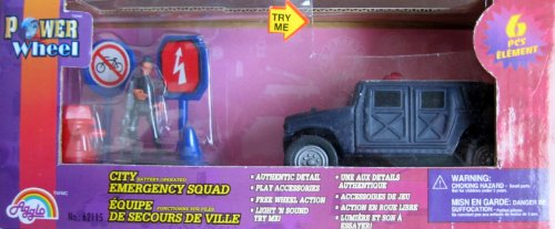 power-wheel-city-emergency-squad-6-piece-playset-w-lights-sounds-vehicle-more-2001-from-canada