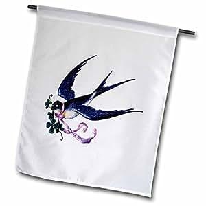 Florene Vintage - French Good Luck Bird - 18 x 27 inch Garden Flag (fl_50205_2)