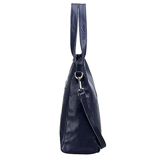 0e797914cfa3 S-ZONE Women s Genuine Leather Large Tote Handbag Shoulder Crossbody ...