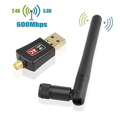 USB inalámbrico Wifi Adaptador Wifi, 600mbps & 1200mbps dos ...