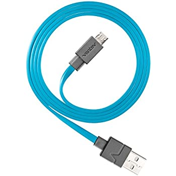 Ventev chargesync Micro USB Cable, 6ft Blue