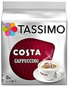 Tassimo Costa Variety Pack de 3, Latte, Americano, Cappuccino