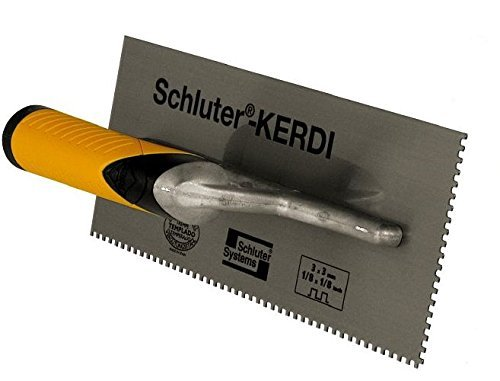 SCHLUTER KERDI TROWEL - 1/8in x 1/8 in Square Notch