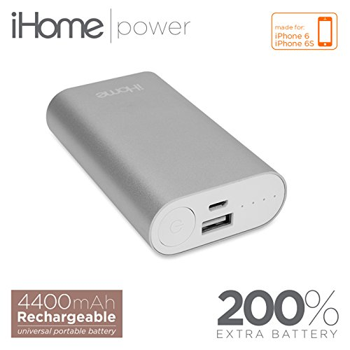 iHome External Battery Pack for Universal Smartphones - Silver
