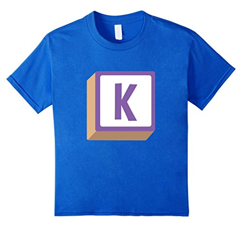 Kids K Alphabet Block Halloween Group Costume T-Shirt 6 Royal Blue - Alphabet Costumes Ideas