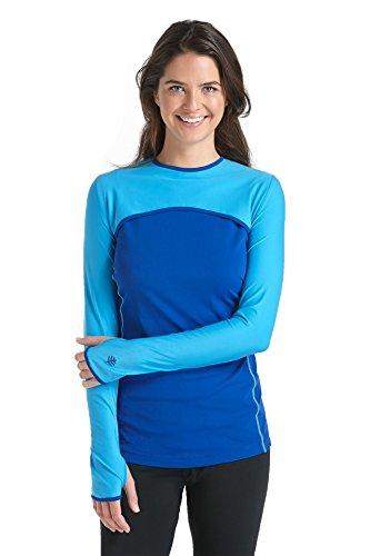 Coolibar Konvertierbar Swim Shirt UPF 50 Plus - Maillot de ciclismo para mujer Azul (Azure/Cobalt)