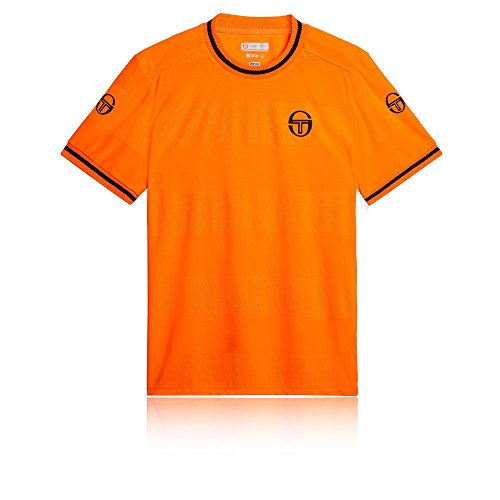 (Sergio Tacchini Retro T-Shirt - SS19 - Large - Orange)