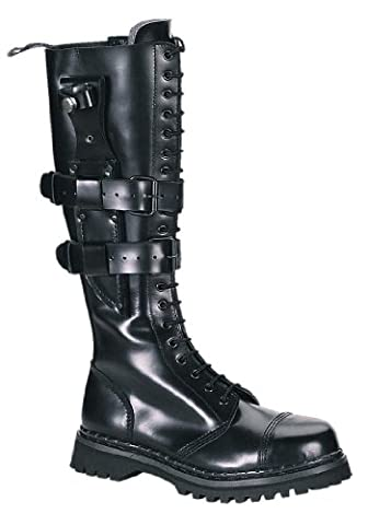 Demonia by Pleaser Men's Predator 1 Lace-Up Boot,Black Leather,4 M US