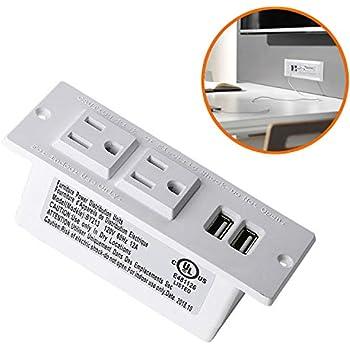 amazon com conference recessed power strip socket 9 8ft cord rh amazon com