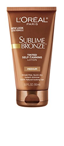 Loreal Sublime Bronze Self Tanning Towelettes - L'Oreal Paris Sublime Bronze Tinted Self-Tanning Lotion, Medium Natural Tan, 5 fl. oz.