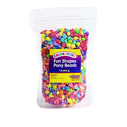 Colorations FUNPONY Fun Shapes Pony Beads - 1 lb.