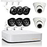 Q-See 8 Channel High Definition 720p Security System QC938-8Z1-1 with 1TB Hard Drive, 6 720p Bullet Cameras, 2 720p Dome Cameras, and 80Night Vision