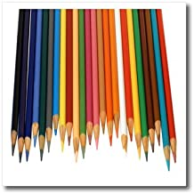 "3dRose ht_195374_3 Colored Pencils Iron on Heat Transfer, 10 by 10"", For White Material"