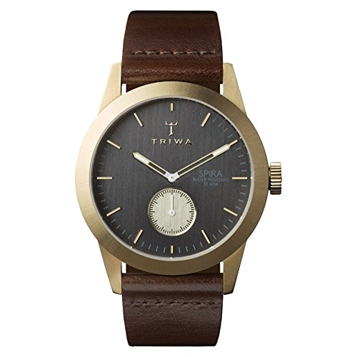 Triwa Ash Spira SPST101CL010413 Dark gray / Brown Leather Analog Quartz Men's Watch