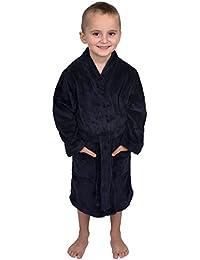 Boys Robe, Kids Plush Kimono Fleece Bathrobe, Made In Turkey