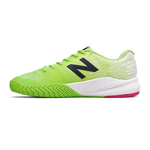 NEW balance96V3Hombre Zapatillas de tenis (Color Verde y Blanco) LIME-JAUNE