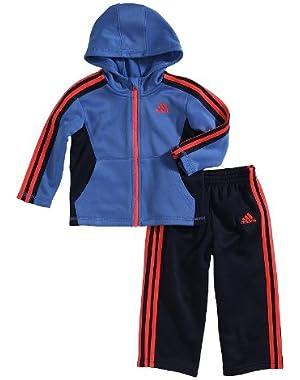 Contrast Hoodie & Pants Set - Baby