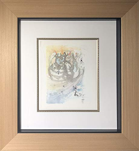 Framed Salvador Dali Lithograph Paternoster Suite - Hallowed Be Thy - Dali Lithographs Signed
