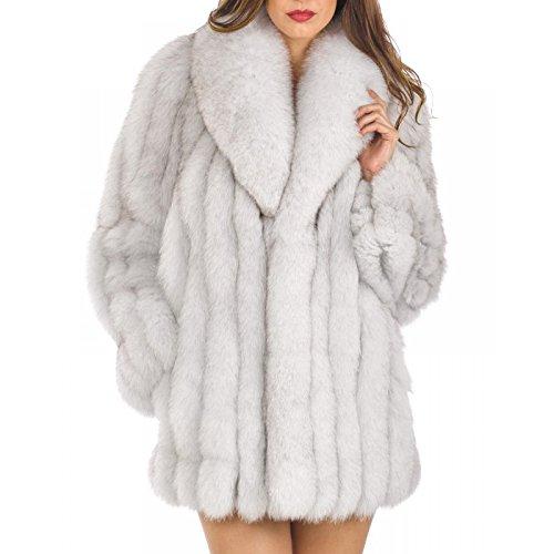 b75c63d87b0 Rvxigzvi Womens Faux Fur Coat Parka Jacket Long Trench Winter Warm Thick  Outerwear Overcoat Plus Size