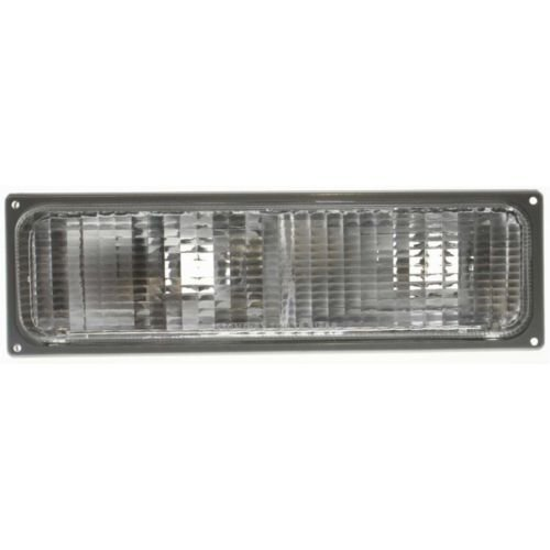 DAT 90-93 GMC C/K FULL SIZE PICKUP PARKING SIGNAL LAMP LENS AND HOUSING MOUNTS BELOW COMPOSITE STYLE HEAD LIGHT LEFT DRIVER SIDE ()