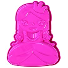 Pavoni FRT172 Platinum Silicone Miss Princy-Princess Mini Cake Mould, Pink