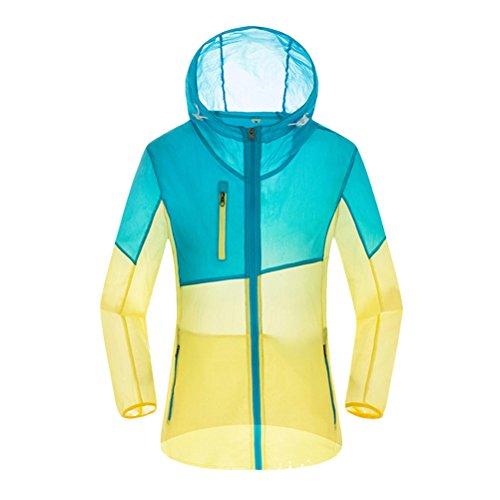 Zhhlaixing Outdoor Skin Clothing vêtements Color Windbreaker Women Genuine Windproof Waterproof Coat Blue