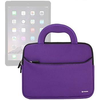 Evecase iPad Pro 10.5 / iPad 9.7 / iPad Pro 9.7, Case Bag, UltraPortable Handle Carrying Portfolio Neoprene Sleeve Case Bag for Apple iPad Pro 9.7, iPad Air 2/Air (iPad 6/5), iPad 4 3 2 - Purple