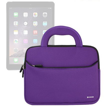 Evecase iPad Pro 10.5 / iPad 9.7 / iPad Pro 9.7, Case Bag, UltraPortable Handle Carrying Portfolio Neoprene Sleeve Case Bag for Apple iPad Pro 9.7, iPad Air 2/Air (iPad 6/5), iPad 4 3 2 - Purple