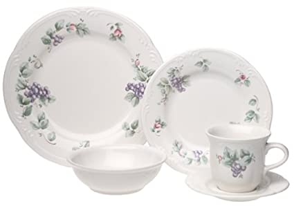 Amazon.com | Pfaltzgraff Grapevine 20-Piece Dinnerware Set, Service ...