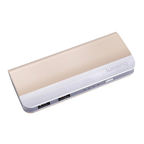 Lumsing® 10400mah Harmonica Style Portable Power Bank External Battery Pack Backup Charger for Apple: Iphone 5s, 5c, 5, 4s, 4, 3gs, Ipad 4, Ipad Air, the New Ipad, Ipad Mini; Samsung Galaxy S4, S3, S2, Note 2, Note 3, HTC One, Evo, Droid Dna, Motorola Atrix, Droid, Google Glass, Nexus 4, Lg Optimus and Other Usb-charged Devices (Champagne Gold) Color: champagne gold PC, Personal Computer