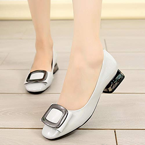 shoes comfortable Shallow B shoes single FLYRCX fashion leather work casual wedding mouth ladies shoes shoes 4RtnOnxgqw