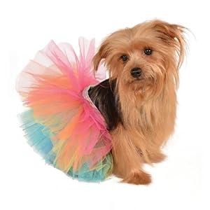 Rubie's Pet Tutu, Rainbow, Small/Medium