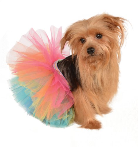 (Rubie's Pet Tutu, Rainbow,)