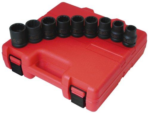 - Sunex 4687 3/4-Inch Drive 12-Point SAE Impact Socket Set, 9-Piece