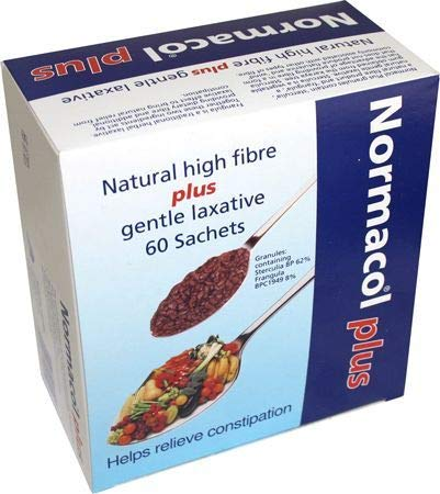 Plus Sachets - Normacol Plus Laxative Sachets for Constipation - 60 Sachets - Treatment of Constipation - Sterculia - Frangula bark - These granules are Suitable to be Used by Adults and Children - United Kingdom