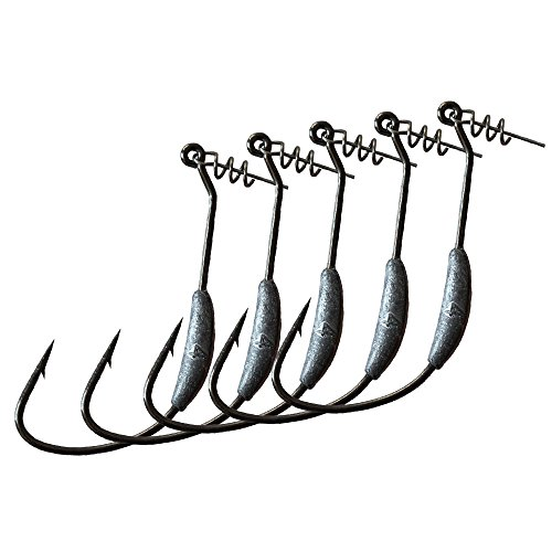 LikeFish Fishing Weighted Hooks with Twistlock Weighted Superline Spring Hook 5pcs/pack 2g 2.5g 3g 4g (5 Ounce Spring)