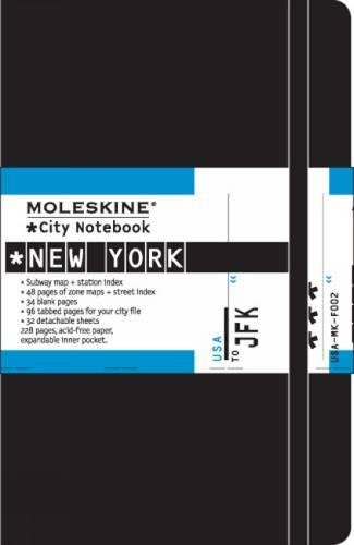 Moleskine City Notebook - New York, Pocket, Black, Hard Cover (3.5 x 5.5) (City Notebooks)