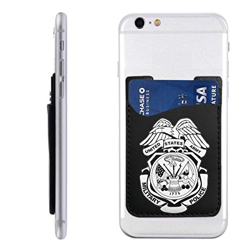 TYTland US Army Military Police Badge Logo Phone Pocket Stick On Wallet Card Holder for All Smartphones