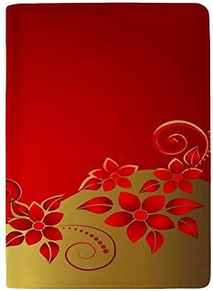 パスポートカバー ホルダー スキミング防止 多機能収納ポケット パスポートケース トラベルウォレット PUレザー エアチケット カードケース 収納ポーチ おしゃれ 綺麗な花柄 高級レザー 出張 便利グッズ 安全な海外旅行用