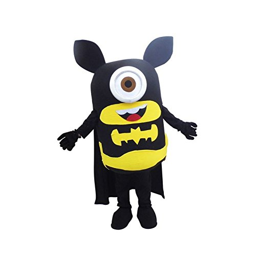 New Batman Minions Despicable Me Mascot Costume Cosplay Fancy Dress Adult Size Outfit Birthday Party Event Halloween