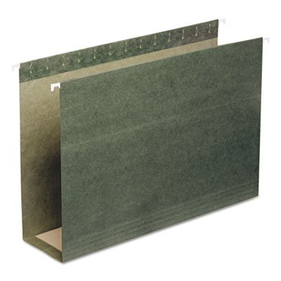 Three Inch Capacity Box Bottom Hanging File Folders, Legal, Green, 25/Box, Total 125 EA, Sold as 1 Carton