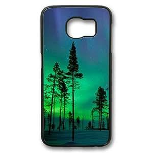 Aurora Borealis Samsung Galaxy S6 Edge Case,Customized Hard Shell PC Black Case for Samsung Galaxy S6 Edge,Galaxy S6 Edge Case by kobestar