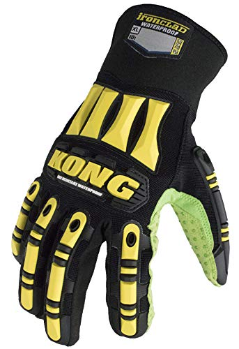 Ironclad SDX2WC-04-L SAFETY Impact Gloves, Large, Black/Yellow/Green]()
