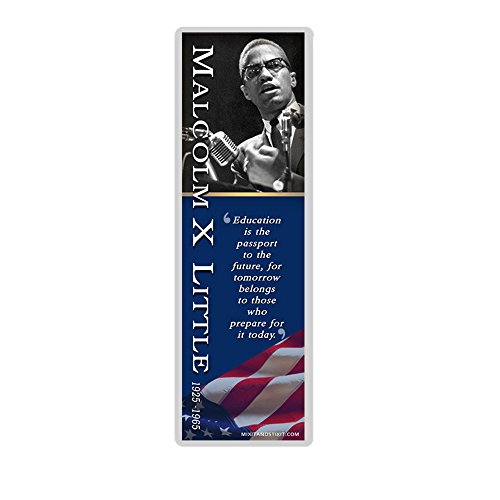 Malcolm X Inspirational Quote Laminated Bookmark
