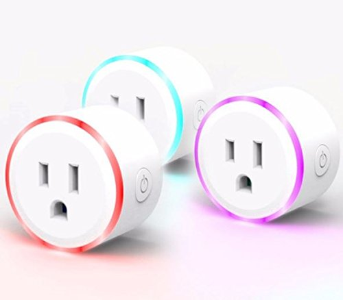 Wifi Smart Plugs, Smart Sockets with Adjustable Led Lights and Timers, Works with Amazon Alexa and Google Assistant works with smart phones ( 2 pk - Near Address Target Me