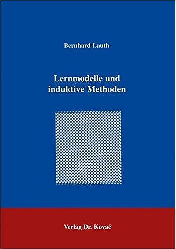 Book Lernmodelle und induktive Methoden .