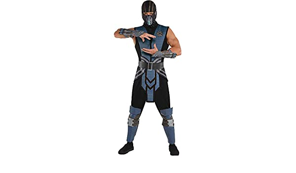 SUIT YOURSELF Mortal Kombat Sub-Zero Costume for Adults, Standard Size, Includes a Jumpsuit, a Tabard, and a Mask