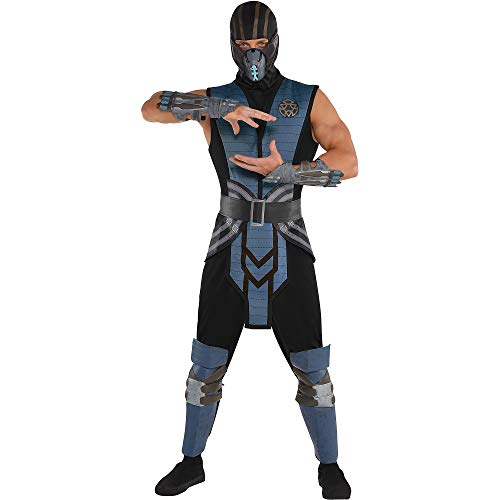 SUIT YOURSELF Mortal Kombat Sub-Zero Costume for Adults, Standard Size, Includes a Jumpsuit, a Tabard, and a -