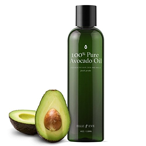 Organic, Cold Pressed Avocado Oil for Skin, Hair & Body - Food Grade and Ideal for Cooking - Rich in Vitamins & Essential Fatty Acids - (Pure Avocado Oil)