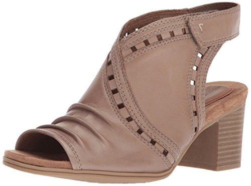 Cobb Hill Women's Hattie Envelope Heeled Sandal Khaki Leather